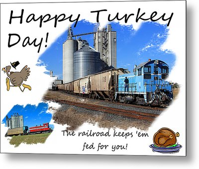 Happy Turkey Day Metal Print by Joseph C Hinson Photography