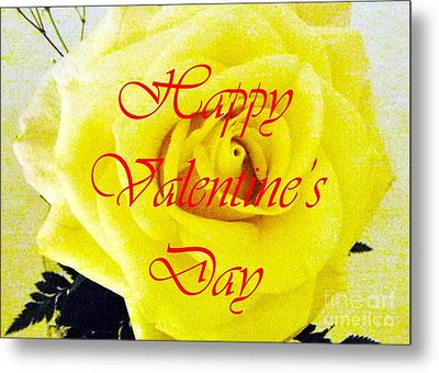 Happy Valentine's Day Metal Print by Barbie Corbett-Newmin