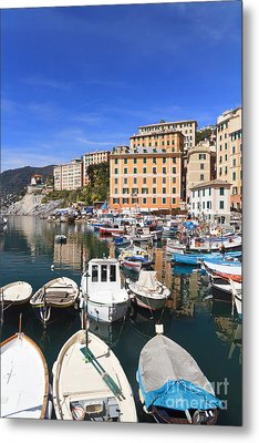 harbor in Camogli - Italy Metal Print by Antonio Scarpi