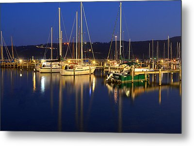 Harbor Nights Metal Print by Frozen in Time Fine Art Photography