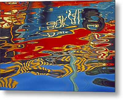 Metal Print featuring the photograph Harbor Reflections by Dennis Cox WorldViews