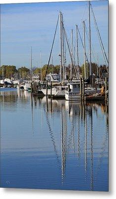 Harbor Reflections Metal Print by Karol Livote