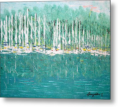 Harbor Shores Metal Print