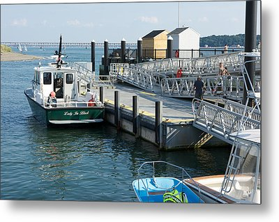 Harbor Spectacle Island Metal Print by Gail Maloney