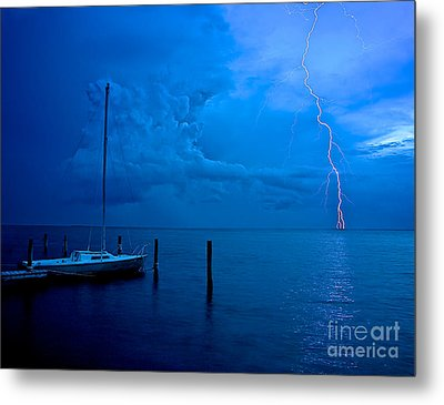 Harbor Storm Metal Print by Mark Miller