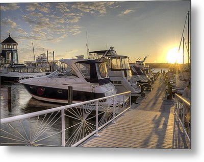 Metal Print featuring the photograph Harbor Sunrise by Michael Donahue