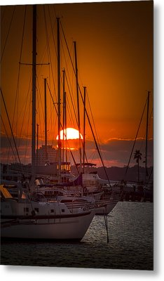 Harbor Sunset Metal Print by Marvin Spates