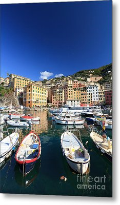 Metal Print featuring the photograph Harbor With Fishing Boats by Antonio Scarpi
