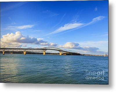Harbour Bridge Auckland New Zealand Metal Print by Colin and Linda McKie