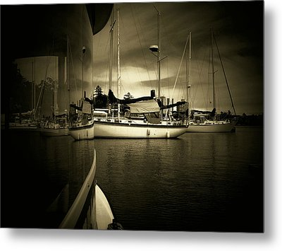 Metal Print featuring the photograph Harbour Life by Micki Findlay