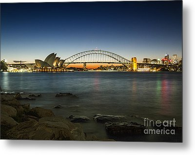 Harbour Night Metal Print