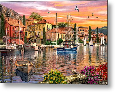 Harbour Sunset Metal Print by Dominic Davison