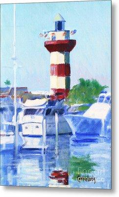 Harbour Town Lighthouse Metal Print