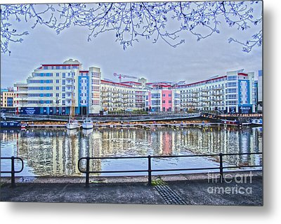 Harbourside Flats Metal Print by Brian Roscorla