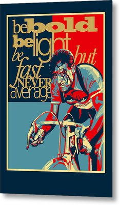 Hard As Nails Vintage Cycling Poster Metal Print by Sassan Filsoof