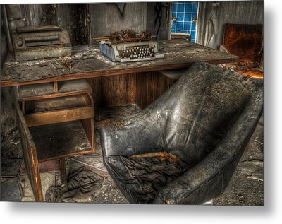 Hard Day In The Office Metal Print