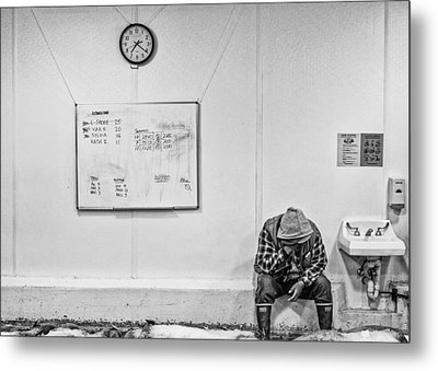 Metal Print featuring the photograph Hard Day by Rob Tullis