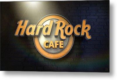 Hard Rock Cafe Logo Metal Print