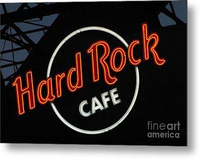 Hard Rock - St. Louis Metal Print by Gary Gingrich Galleries