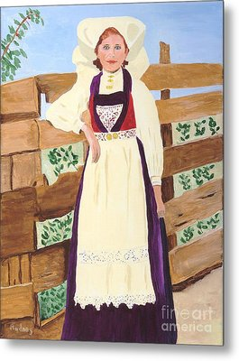 Metal Print featuring the painting Hardanger Girl by Rodney Campbell