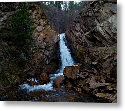 Hardy Falls Peachland Bc Metal Print by Guy Hoffman