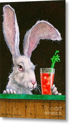 Hare Of The Dog...sans Dog... Metal Print by Will Bullas