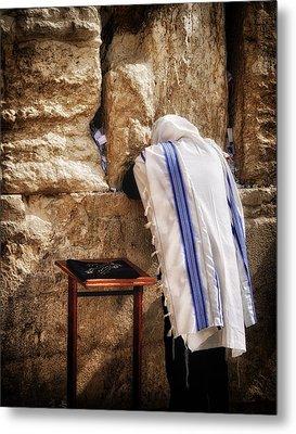 Harken Unto My Prayer O Lord Western Wall Jerusalem Metal Print by Mark Fuller