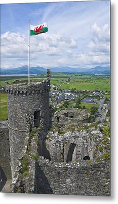 Harlech Castle Tower Metal Print