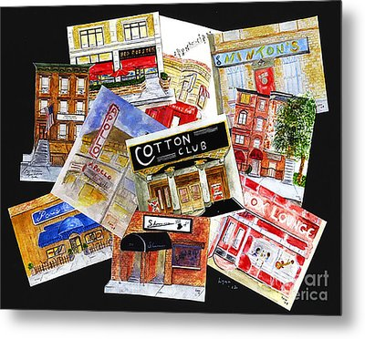 Harlem Jazz Clubs Metal Print by AFineLyne