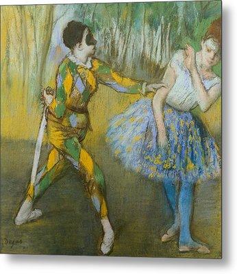 Harlequin And Columbine Metal Print by Edgar Degas