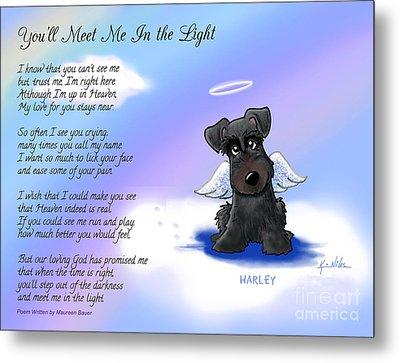 Harley Angel With Poem Metal Print by Kim Niles