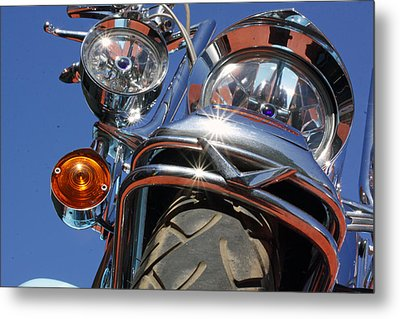 Metal Print featuring the photograph Harley Close Up by Shoal Hollingsworth