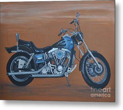 Harley Davidson Dyna Metal Print by Sally Rice