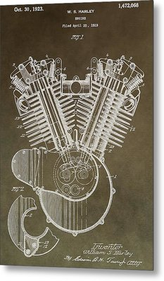 Harley Davidson Engine Metal Print