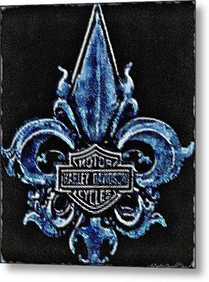 Harley Davidson Fleur De Lys Logo Metal Print