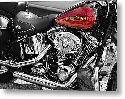 Harley Davidson Metal Print by Laura Fasulo