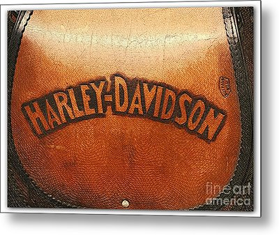 Harley Davidson Leather Tool Bag  Metal Print by Stefano Senise