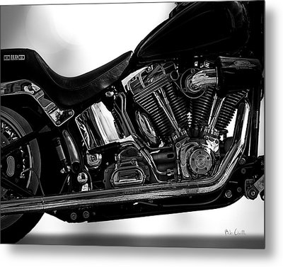 Harley Davidson  Military  Metal Print by Bob Orsillo