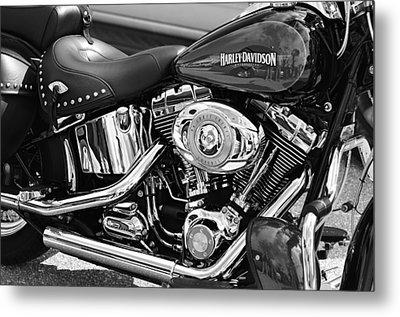 Harley Davidson Monochrome Metal Print by Laura Fasulo