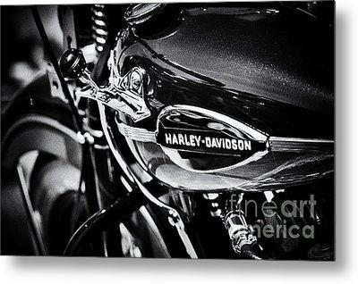 Harley Davidson Monochrome Metal Print by Tim Gainey