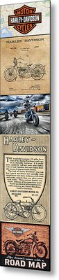 Harley-davidson Montage Metal Print by Photographic Art by Russel Ray Photos