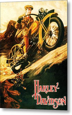 Harley Davidson Metal Print by Pg Reproductions