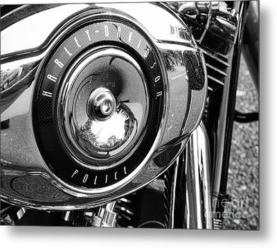 Harley Davidson Police Motorcycle Metal Print by Paul Ward