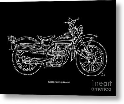 Harley Davidson Scat 165 1963 Metal Print by Pablo Franchi