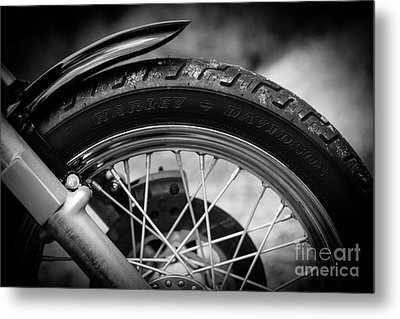 Metal Print featuring the photograph Harley Davidson Tire by Carsten Reisinger