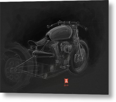 Harley Metal Print by Jeremy Lacy
