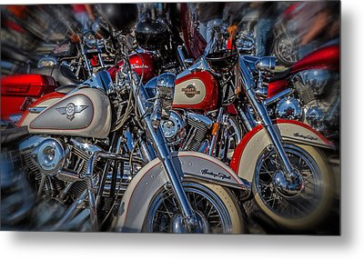 Metal Print featuring the photograph Harley Pair by Eleanor Abramson