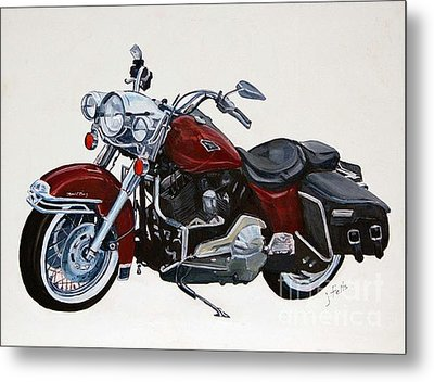 Harley Road King Metal Print by Janet Felts