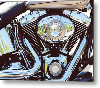 Harley Metal Print by Tracy W