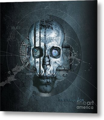 Harmagedon Blue-gray Metal Print by Franziskus Pfleghart